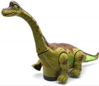 FunBlast Kid's Battery Operated Walking, Moving Dinosaur Toy with Flashing Lights and Realistic Dinosaur-Sounds, Available in 2 Colours (Green)- Amazon