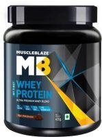 MuscleBlaze 100% Whey Protein(400 g, Rich Milk Chocolate)- Flipkart