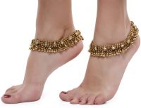 Shining Diva Gold Plated Anklets- Amazon