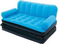 Bestway 67356 Three Seater Sofa Cum Bed (Blue)- Amazon