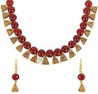 I Jewels Traditional Gold Plated Pearl Necklace Set with Earrings for Women (M4124R) Starts from Rs. 99- Amazon