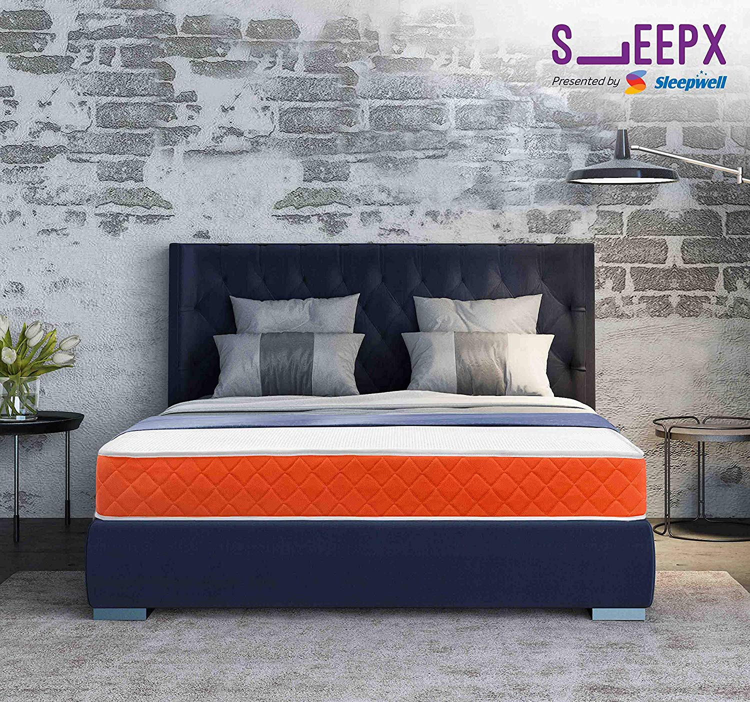 SleepX Presented by Sleepwell Dual mattress - Medium Soft and Hard (72*60*5 Inches)- Amazon