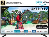 Samsung 108 cm (43 Inches) Super 6 Series 4K UHD LED Smart TV UA43NU6100 (Black) (2019 model)- Amazon