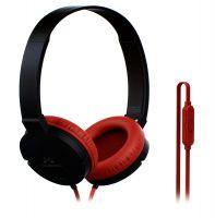 SoundMagic P10S Headphones with Mic (Black/Red)- Amazon