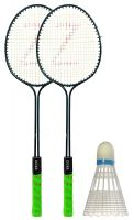 Klapp Badminton Set (Pack of Two Racquet and 1 Shuttlecock)- Amazon