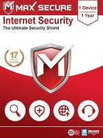 Max Secure Software Internet Security Version 6 - 1 PCs, 1 Year (Email Delivery in 2 Hours - No CD)- Amazon