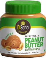 [LD] DiSano All Natural Peanut Butter, Creamy, 30% Protein, Unsweetened, Gluten Free, 1 Kg- Amazon