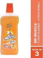 Mr Muscle Floor Cleaner - Citrus (500ml,Pack of 3)- Amazon
