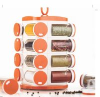LMS Plastic Revolving Spice Rack, Multicolor- Amazon