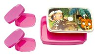 Signoraware Little Stars Compact Plastic Lunch Box Set, Pink- Amazon
