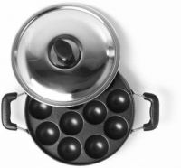 Shivonic appam patra ponganal maker Paniarakkal Pan 22 cm diameter with Lid(Aluminium, Non-stick, Induction Bottom)- Flipkart