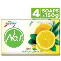 [Pantry] Godrej No.1 Bathing Soap ? Lime & Aloe Vera, 150g (Pack of 4)- Amazon