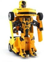 aleswick Robot to Car Converting Transformer Toy For Kids (Yellow)  (yellow and black)- Flipkart