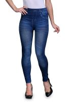 [Size 32] INFISPACE Women Rugged Denim Look Jeggings For Formal and Casual Wear- Amazon