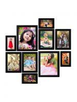Random Photo Frames (Synthetic Wood, 34 cm x 26 cm x 14.5 cm, Black, Set of 10)- Amazon