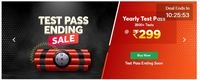 Test Pass Ending Sale - Get Yearly Test Pass at Just Rs.25 Each Month