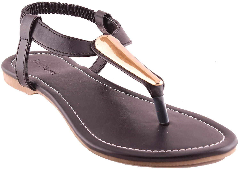Black Sandals Women's Flats- Amazon