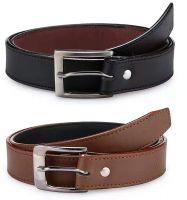 Krystle Boy's PU Leather Belts (KRY-BOY-BLK-BRN1-PO2-BELT, Black and Brown, Free Size, Pack of 2)- Amazon