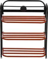 Patelraj Metal Shoe Rack(Red, 3 Shelves)- Flipkart