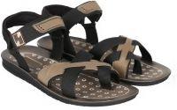 Treadfit Men Black Sandals- Flipkart