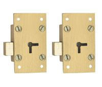 Harrison H-0096_PK2 75mm Brass Four Lever Furniture Lock Set (Silver,Pack of 2)- Amazon