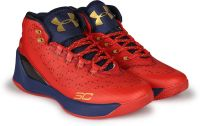 (Size 11) Under Armour UA CURRY 3.0 Basketball Shoes For Men(Red)- Flipkart