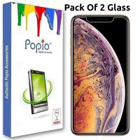POPIO Apple iPhone Xs Max Tempered Glass Screen Protector (Pack of 2)- Amazon