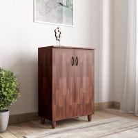 Woodness Engineered Wood Shoe Rack(Brown, 4 Shelves)- Flipkart