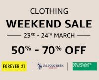Clothing Weekend Sale 23rd - 24th March- Amazon