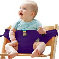 HOLIFE Baby Dining Chair Safety Belt Portable Seat Lunch Stretch Wrap Feeding Harness Booster (Purple)- Amazon