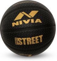 Nivia Pro Street Basketball - Size: 7(Pack of 1, Black)- Flipkart