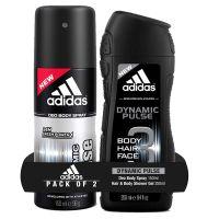 Adidas Dynamic Pulse Deodorant Body Spray, 150ml with Dynamic Pulse Shower Gel, 250ml- Amazon