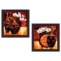 Wens 'Floral' Wall Hanging Painting (MDF, 35 cm x 71 cm x 2.5 cm, WSPC-4004)- Amazon