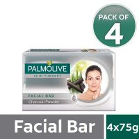 Palmolive Skin Therapy Facial Bar Soap with Charcoal Powder - 75g (Pack of 4)- Amazon