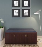 Three Door Shoe Rack with Seat in Wenge Finish by HomeTown- Pepperfry