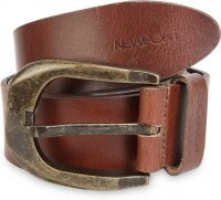 Newport Men Casual Brown Genuine Leather Belt- Flipkart