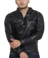 [Size L] Teesort PU Leather Jacket with Fur Lining- Amazon