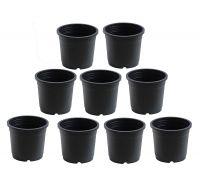 NOVICZ Heavy Duty Plastic Plant Pot/Planter Pots - 9PCS Black Color- Amazon