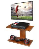 Anikaa Saffron TV Wall Unit/TV Entertainment Units/Wall Mounted TV Set Top Box Stand/DVD Wall Shelf/Display Unit Walnut Finish- Plain- Amazon