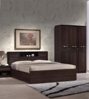 Bolton Queen Size Bed with Hydraulic Storage in Wenge Finish by HomeTown- Pepperfry