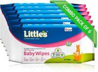 Little's Baby Wet Wipes 80 x 6pcs(480 Pieces)- Flipkart