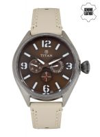 Titan Brown Multifunction Analogue Watch 9478Ql03J- Jabong