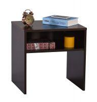 DeckUp Lexis Side Table (Dark Wenge, Matte Finish)- Amazon