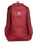 Swiss Eagle 22 Ltrs Red/Black School Backpack (SE3611RDBK)- Amazon