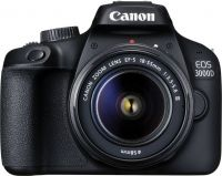 Canon EOS 3000D DSLR Camera Single Kit with 18-55 lens (16 GB Memory Card & Carry Case)  (Black)- Flipkart