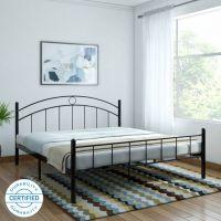 FurnitureKraft Nancy Metal King Bed(Finish Color -  Black)- Flipkart