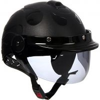 Generic Unbranded Format Dzire Open Face Helmet (Black, Medium)- Amazon