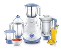 Prestige Iris(750 Watt) Mixer Grinder with 3 Stainless Steel Jar + 1 Juicer Jar,White and Blue- Amazon