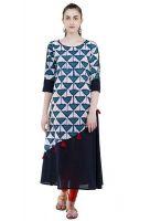 Mini 60% Off on AnjuShree Choice Women's A-Line Kurta- Amazon