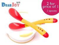 DearJoy Silicone Tip Heat Sensitive Temperature Sensing Spoons (Red) - 2 Spoons- Amazon